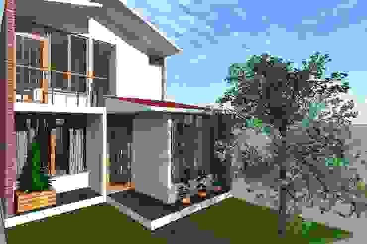 Fachada principal de ARDI Arquitectura y servicios Moderno Concreto