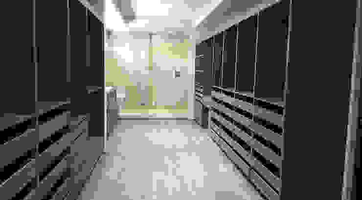 Vestidor Vestidores minimalistas de Idee diseño & mobiliario Minimalista Derivados de madera Transparente