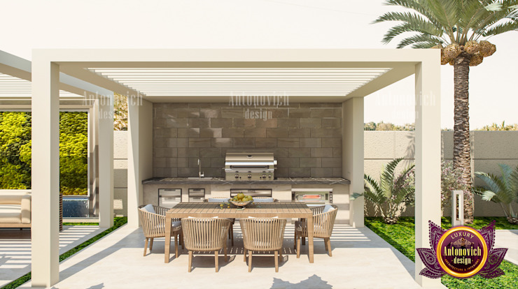 Superb Huge Exterior Plan For a House by Luxury Antonovich Design