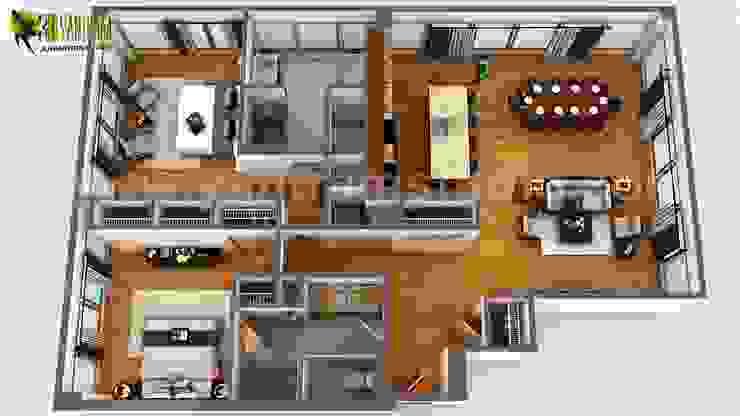 3d Floor Plan Rendering Apartment Design Ideas By Yantram 3d Architectural Design Studio Dubai Uae Homify