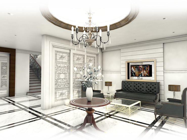 Living Area: ผสมผสาน  โดย Hip and Classic Design Studio, ผสมผสาน
