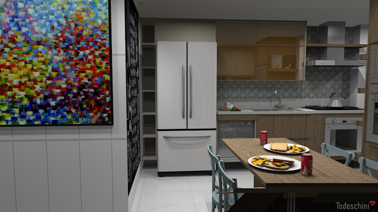 Ana Adriano Design de Interiores Unit dapur MDF Wood effect
