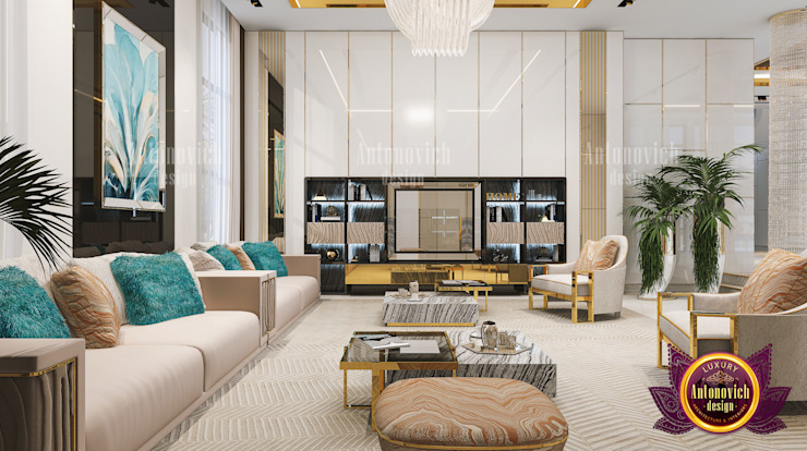 Grandest Luxurious Living Room by Luxury Antonovich Design