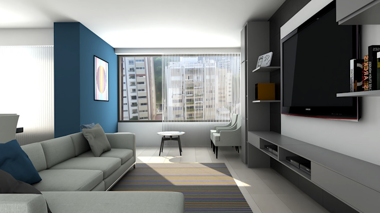 sala de estar Salas de entretenimiento de estilo moderno de Proyectos C&H C.A Moderno