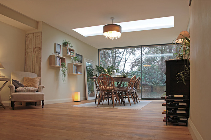 Natural Light Floods the new Dining Room ArchitectureLIVE Eclectic style dining room