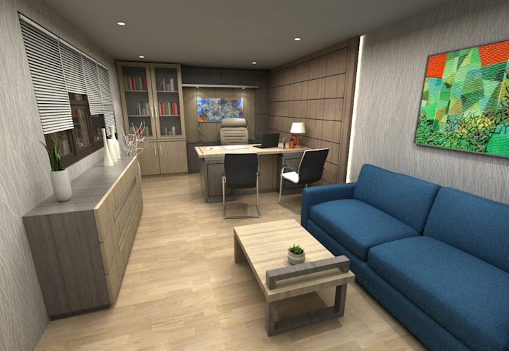 Lobby Guest House Bandung: Office spaces & stores  oleh Maxx Details,
