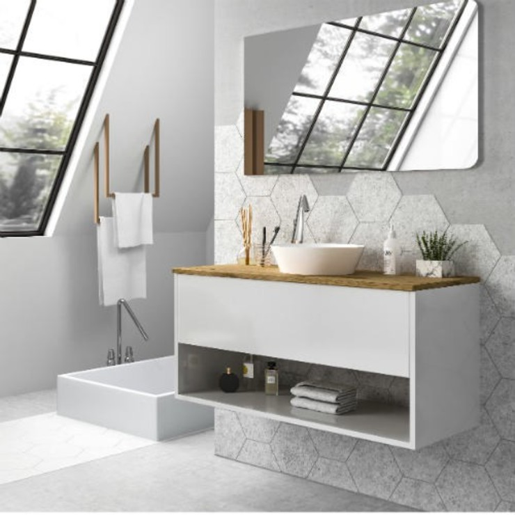modern  by TheBathPoint, Modern Engineered Wood Transparent
