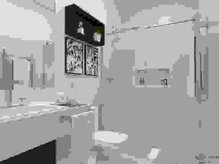 Outro ângulo do banheiro Daniela Ponsoni Arquitetura Banheiros modernos