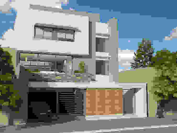 VIVIENDA UNIFAMILIAR de viviendas de autor Moderno Hormigón