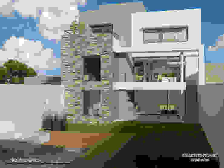 VIVIENDA UNIFAMILIAR de viviendas de autor Moderno Piedra