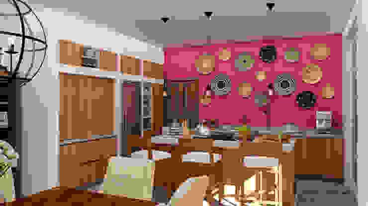 Salle à manger coloniale par Citlali Villarreal Interiorismo & Diseño Colonial