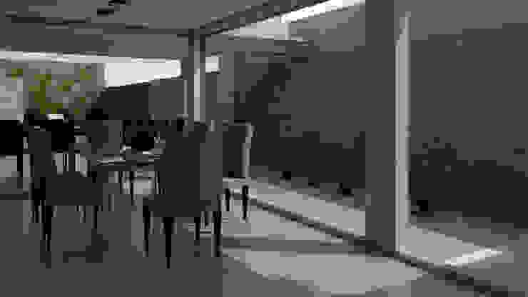 Modern dining room by viviendas de autor Modern Iron/Steel