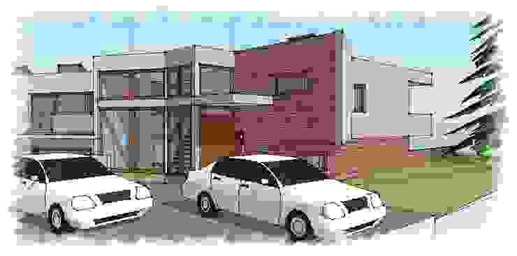 vista acceso de RCR Arquitectos Moderno