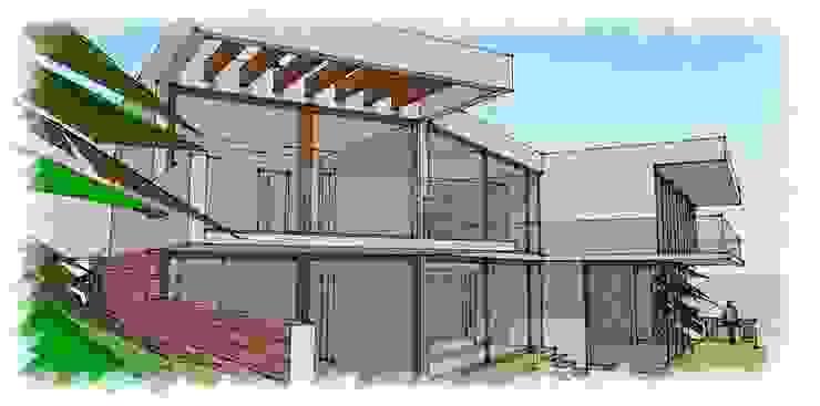 vista dormitorios de RCR Arquitectos Moderno