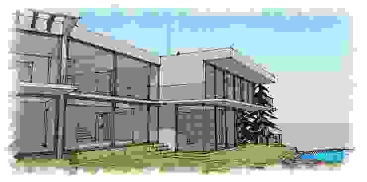vista salida estar y dormitorios de RCR Arquitectos Moderno