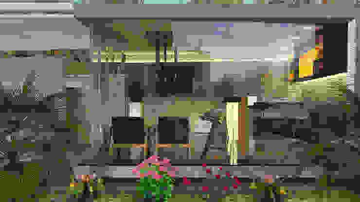 Area del Bar Balcones y terrazas de estilo moderno de Proyectos C&H C.A Moderno