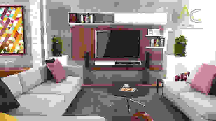 Sala Principal Salas de entretenimiento de estilo moderno de Proyectos C&H C.A Moderno