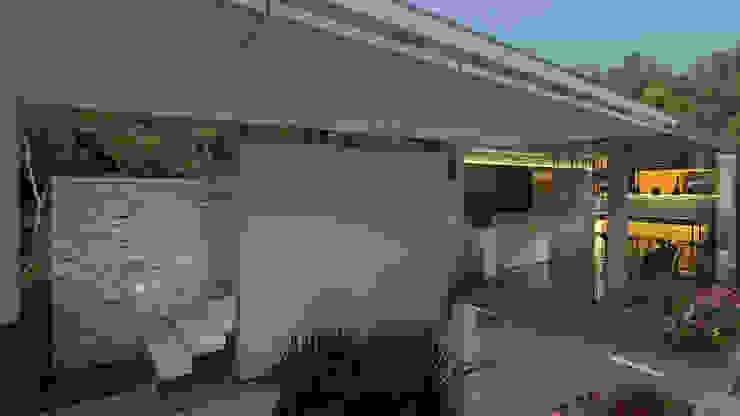 Terraza Balcones y terrazas de estilo moderno de Proyectos C&H C.A Moderno