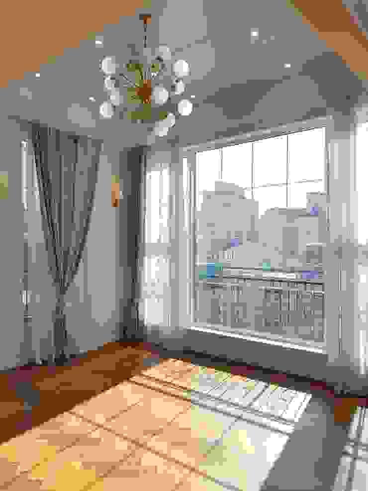돈암동 복층 주택 모던스타일 거실 by 캐러멜라운지 모던