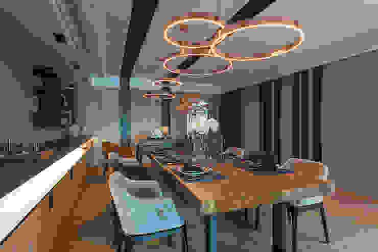 宸域空間設計有限公司 Sala da pranzo moderna
