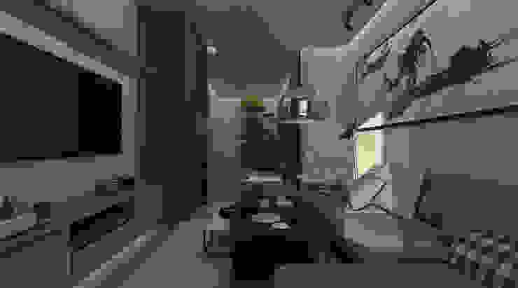KG—Eastown Modern Living Room by STUDIO PARADIGM Modern