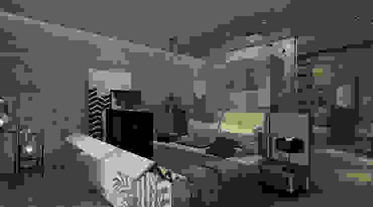 KG—Eastown Modern Bedroom by STUDIO PARADIGM Modern