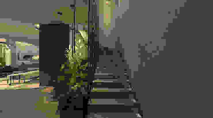 KG - Eastown Modern Corridor, Hallway and Staircase by STUDIO PARADIGM Modern