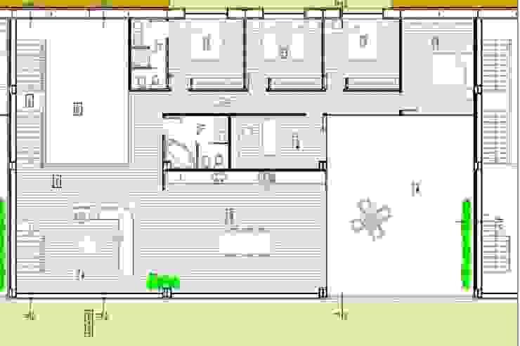 Planta do piso de habitação Cozinhas modernas por Reprojeta Moderno