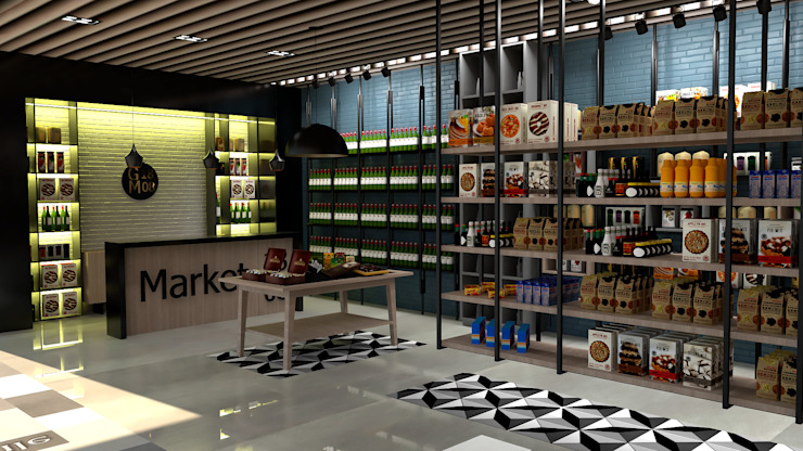 market:  de estilo tropical por Proyectos C&H C.A, Tropical
