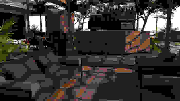 Area de Bar:  de estilo tropical por Proyectos C&H C.A, Tropical