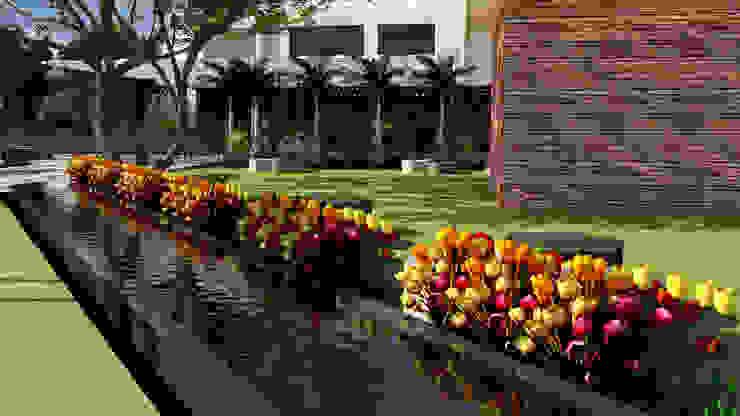 Jardines:  de estilo tropical por Proyectos C&H C.A, Tropical
