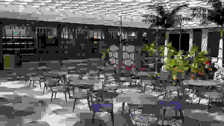 Area de Mesas:  de estilo tropical por Proyectos C&H C.A, Tropical
