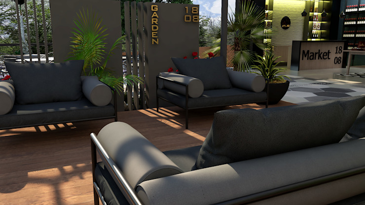 Area Vip:  de estilo tropical por Proyectos C&H C.A, Tropical