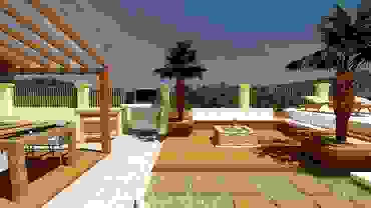 Y&F | abitarte | área Externa | Florianópolis | 2018 Abitarte - Arquitetura e Interiores Jardins rústicos