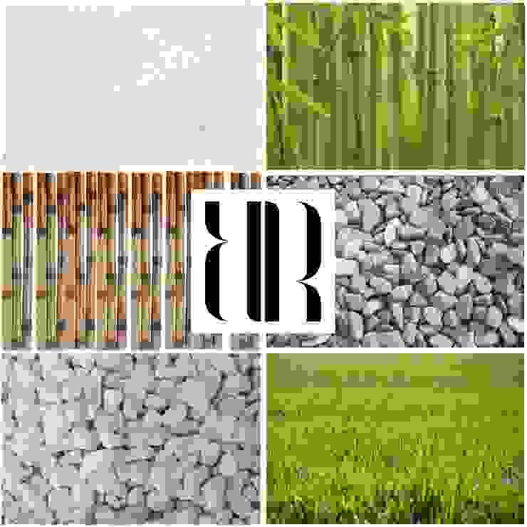 | MOODBOARD DISEÑO JARDÍN | IdEa De DiSeÑo PaRa JaRdíN dE eStIlO mOdErNo de RR Estudio Interiorismo en Madrid Moderno Bambú Verde