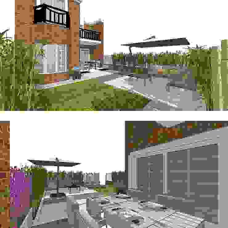 | DISEÑO DE JARDÍN | VeRsIÓn 1 - vivienda de RR Estudio Interiorismo en Madrid Moderno Bambú Verde
