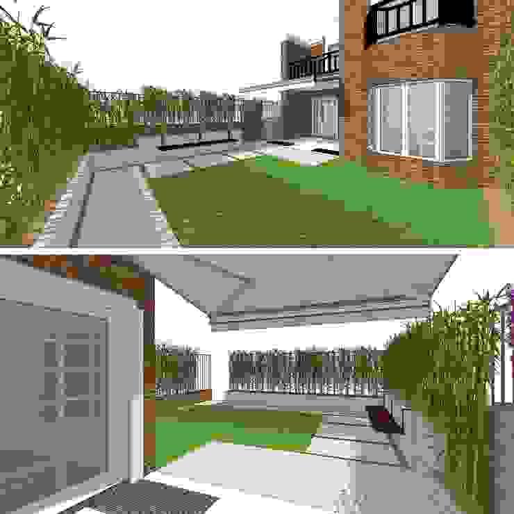 Jardin de rocaille  de style  par RR Estudio Interiorismo en Madrid, Moderne Bambou Vert