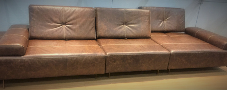 Sgabello Interiores Living roomSofas & armchairs Leather Amber/Gold