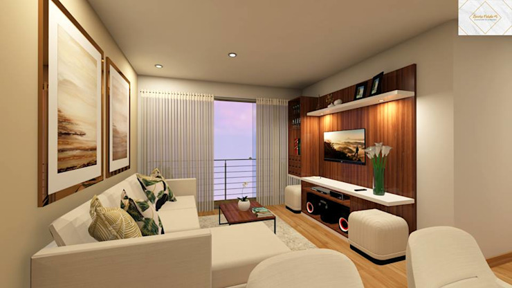 modern  by Lucero Pardo M. - Diseñadora de Interiores, Modern Wood Wood effect
