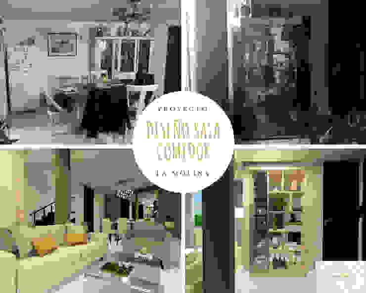 Ruang Makan Klasik Oleh Lucero Pardo M. - Diseñadora de Interiores Klasik Kayu Wood effect