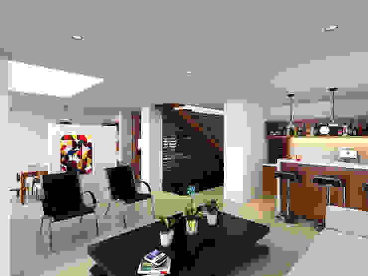 sala / Condominio Filadelfia (Ibagué - Tolima) Salas de estilo ecléctico de Taller 3M Arquitectura & Construcción Ecléctico Contrachapado