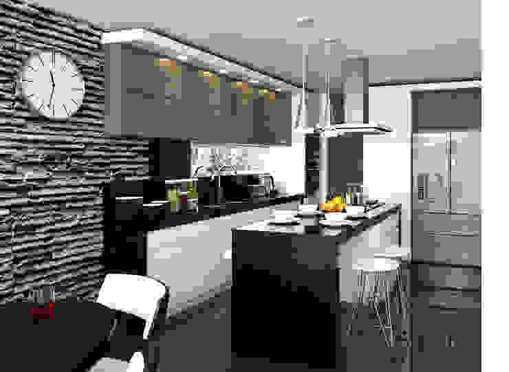 Cocina / Condominio Filadelfia (Ibagué - Tolima) Cocinas de estilo ecléctico de Taller 3M Arquitectura & Construcción Ecléctico Cerámico