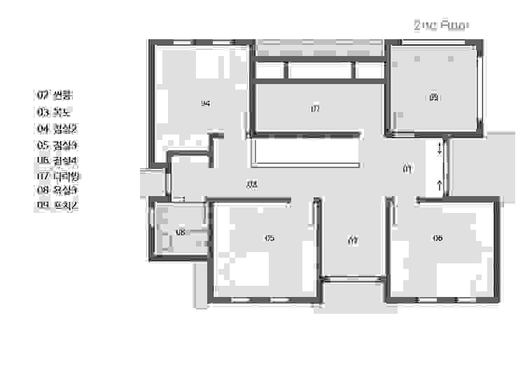 2층 평면도: 윤성하우징의 현대 ,모던
