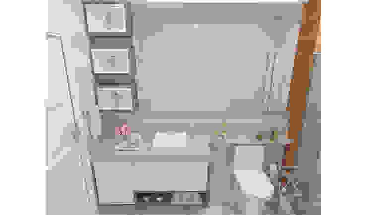 Banheiro Social Rafaela Longhi Arquitetura e Interiores Banheiros clássicos MDF Bege
