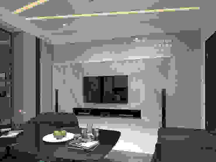 客廳 by 木博士團隊/動念室內設計制作 Modern Marble