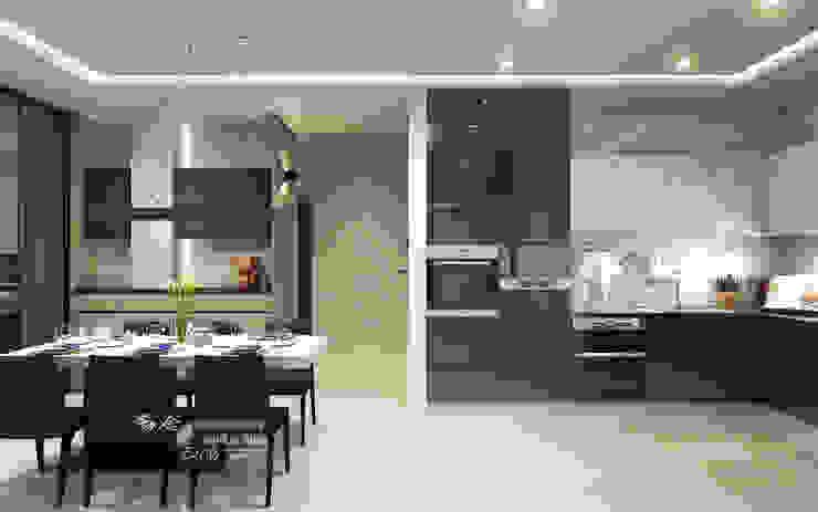 廚房 Modern style kitchen by 木博士團隊/動念室內設計制作 Modern Wood-Plastic Composite