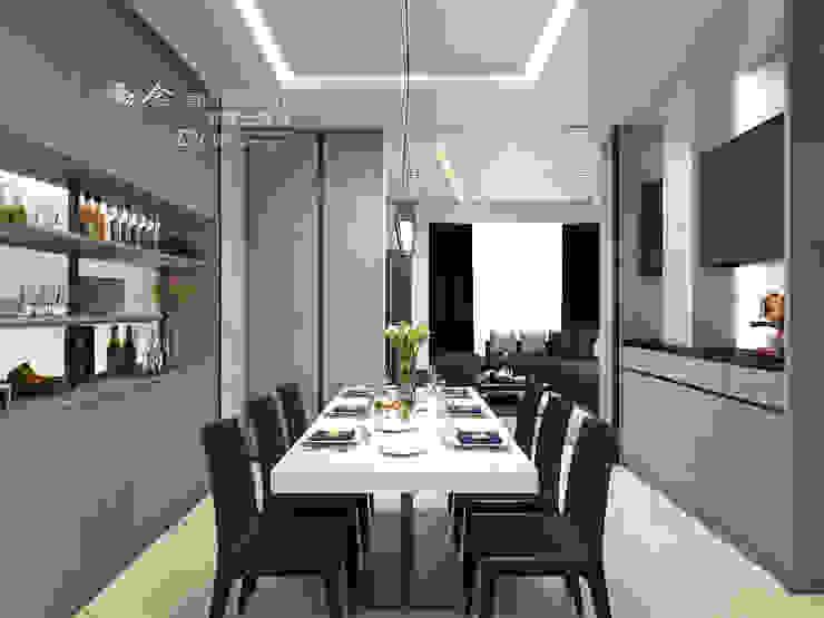 餐廳 Modern dining room by 木博士團隊/動念室內設計制作 Modern Glass