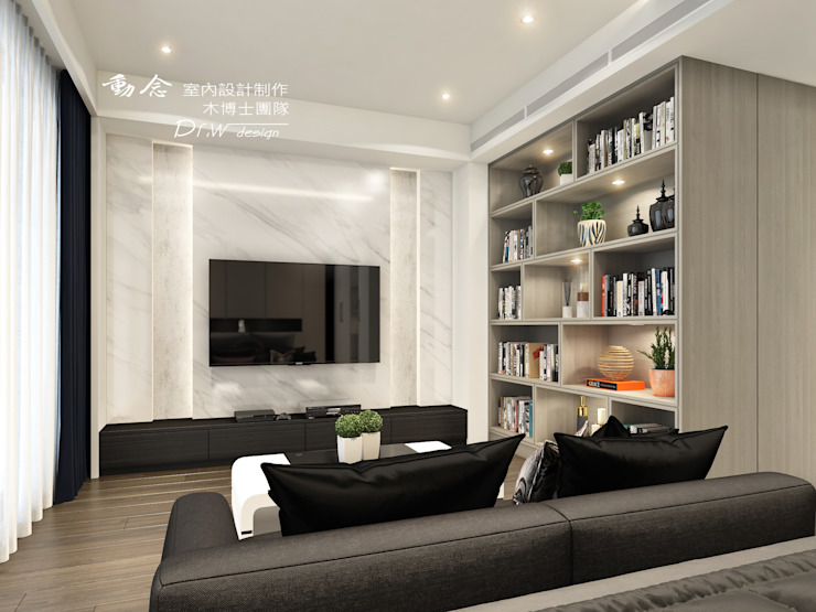 臥室 Modern style bedroom by 木博士團隊/動念室內設計制作 Modern Marble