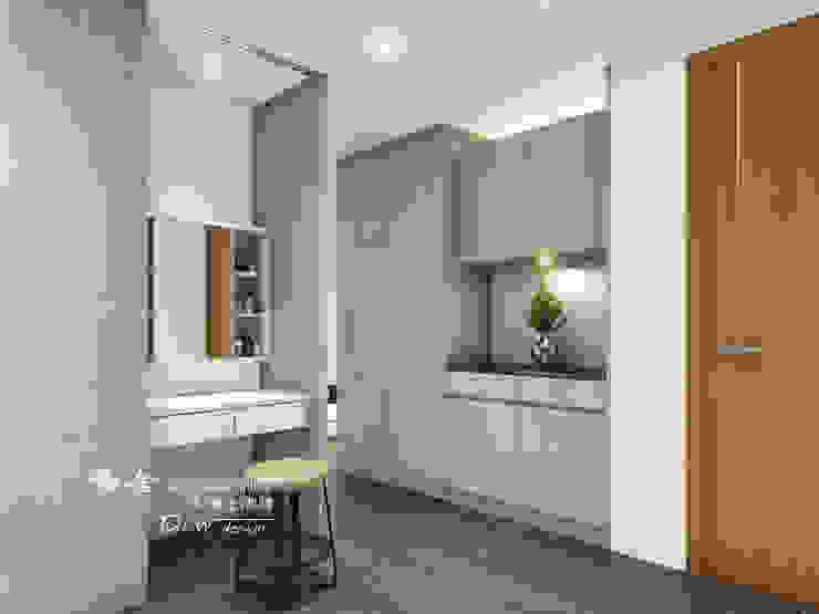 更衣室 Modern style dressing rooms by 木博士團隊/動念室內設計制作 Modern Wood-Plastic Composite