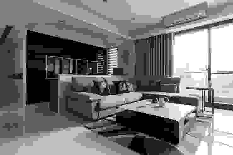 純淨都會-鄉林靜安 现代客厅設計點子、靈感 & 圖片 根據 富亞室內裝修設計工程有限公司 現代風 MDF